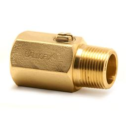 image for MxF Brass Screw Driver Slot Ball valve