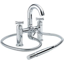 image for Xia Pillar Pattern Bath Shower Mixer with Shower Kit