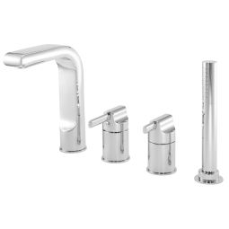 image for Panacea 4-Hole Bath Shower Mixer with Shower Kit