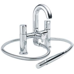 image for Slique Pillar Pattern Bath Shower Mixer with Shower Kit