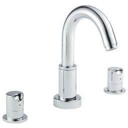 image for Slique 3-Hole Deck Mounted Basin Mixer (inc Click-Waste)