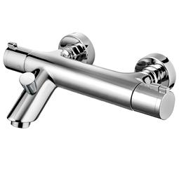image for Haze Thermostatic Wall Mounted Bath Shower Mixer with Kit Shower Kit