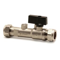 Combined double check valve & isolating valve, DZR metal, copper x copper