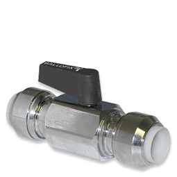 image for Plastic Handle Push-fit Ball valve