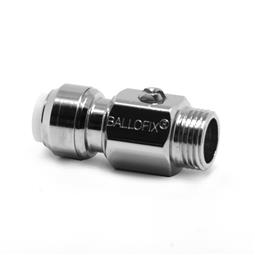 image for Isolating ball valve - straight pattern - male Ball valve