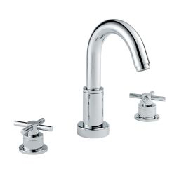 image for Xia 3-Hole Deck Mounted Basin Mixer (inc Flip-waste)