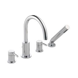 image for Visio 4-Hole Deck Mounted Bath Shower Mixer with Shower kit