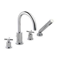 image for Xia 4-Hole Bath Shower Mixer with Shower Kit