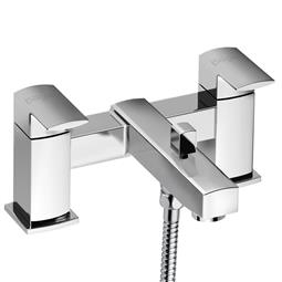 image for Manta Pillar Pattern Bath Shower Mixer with Shower Kit