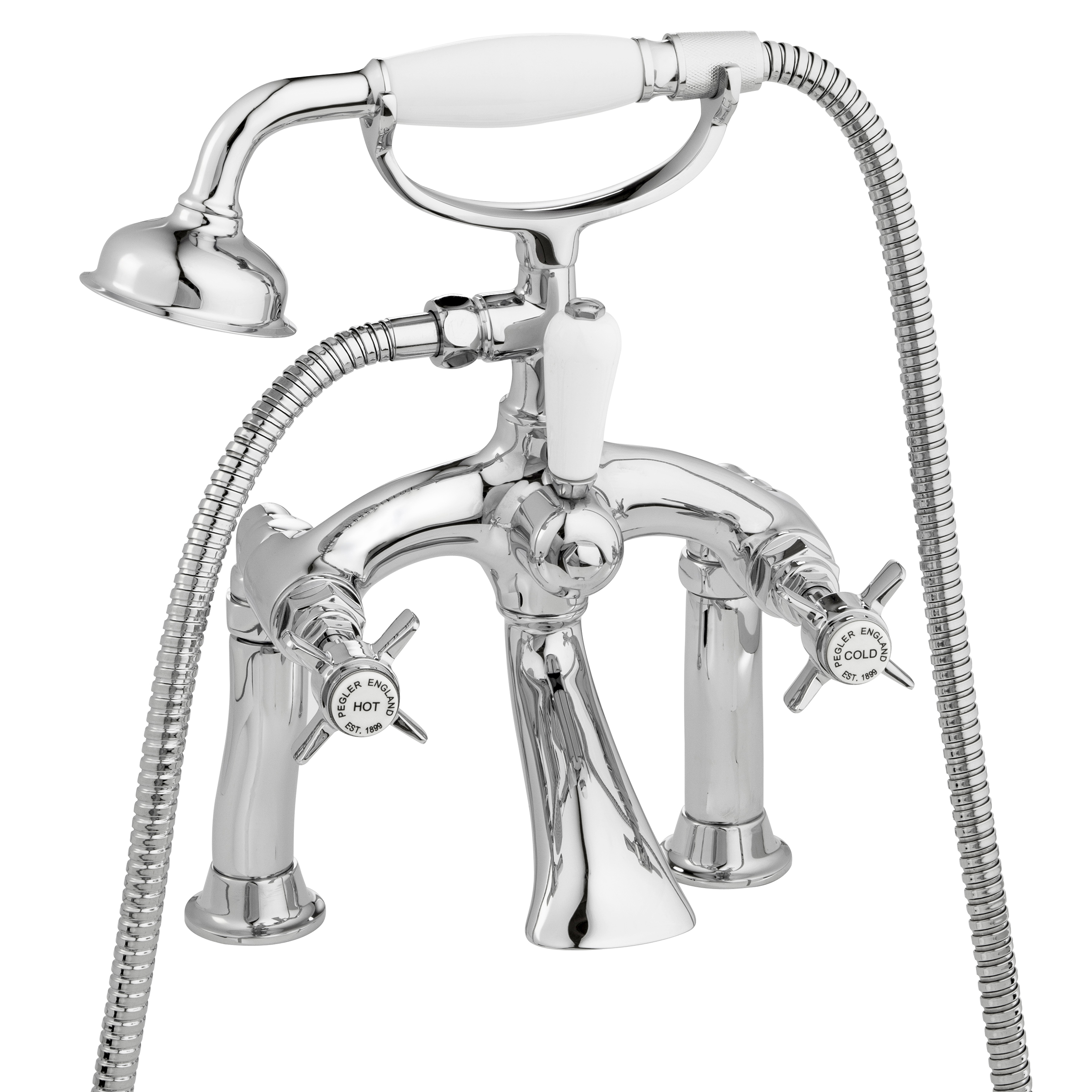pegler yorkshire sequel pillar mounted bath shower mixer complete with shower kit